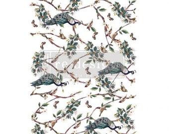 "Avian Sanctuary 24″x 35""h - ReDesign with Prima Decor Transfer"