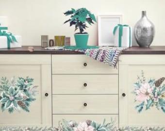 Evergreen Florals  - ReDesign with Prima Decor Transfer