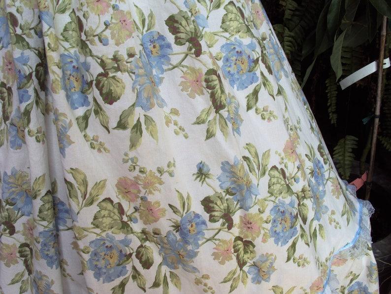 Civil war dress Blue flowerd Prairie Party Dress girls 12  So belle Victorian dress Halloween costume