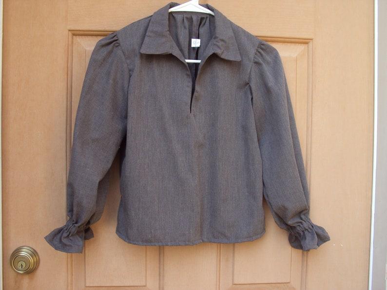 child size 810 colonial shirt long sleeves pirate shirt Childrens renaissance shirt
