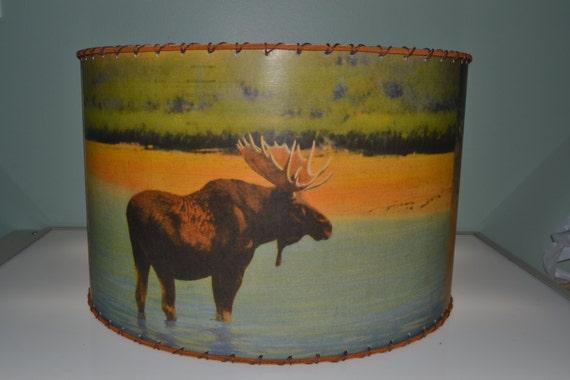 Adirondack Moose Deer Bear Lamp Shade Large 12 X 12 Rustic Cabin Decor