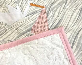 Stork & Baby Girl Quilt