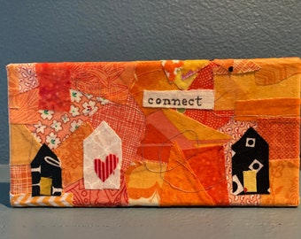 Little Homes  Connect - Fabric  Painting Collage
