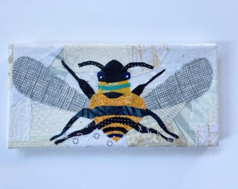 Buzzy Bee - Fabric Painting Collage