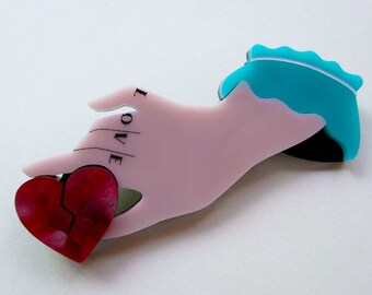 Fancy Hand - The Broken Heart Brooch