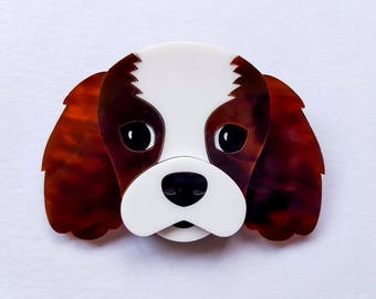 Boo the Cav Laser Cut Acrylic Brooch
