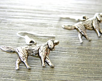 Irish Setter Earrings Silver Color Dangle Earrings Dog Earrings