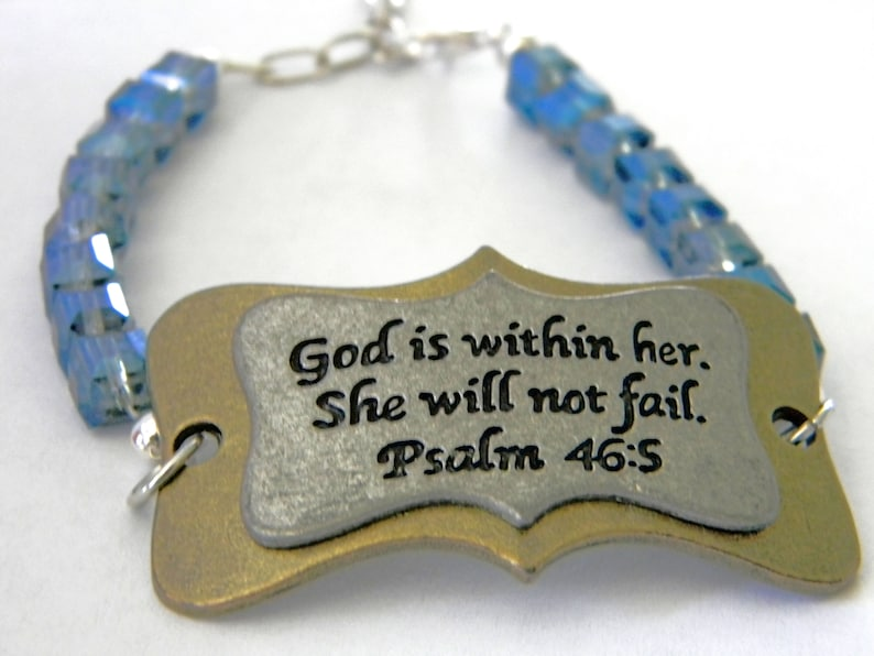 Psalm 46:5 Bracelet God Is Within Her. She Will Not Fail image 0