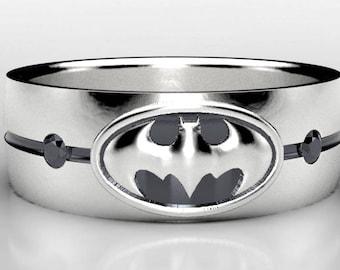 Batman Silver Wedding Ring Batman Sterling Silver Wedding