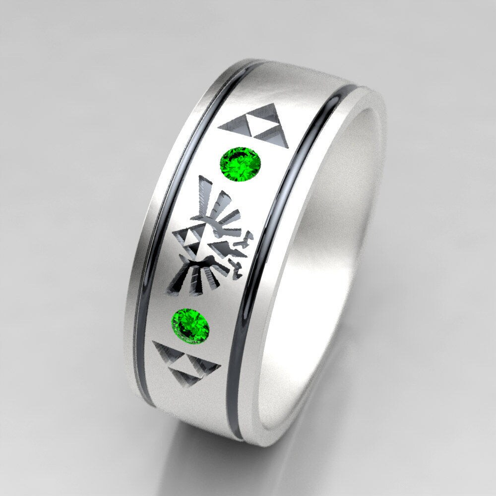 50: Green Lantern Emerald Wedding Band Set At Websimilar.org