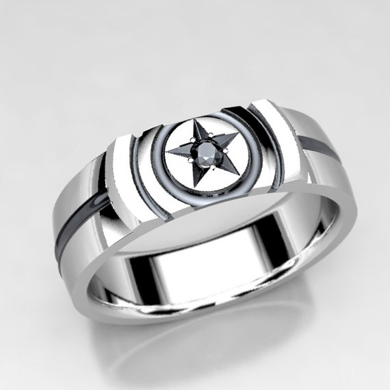 Captain Marvel Gold Star Rings Women The Avengers Endgame Cosplay Jewelry Replica Engagement Love Ring Korean Style Accessories