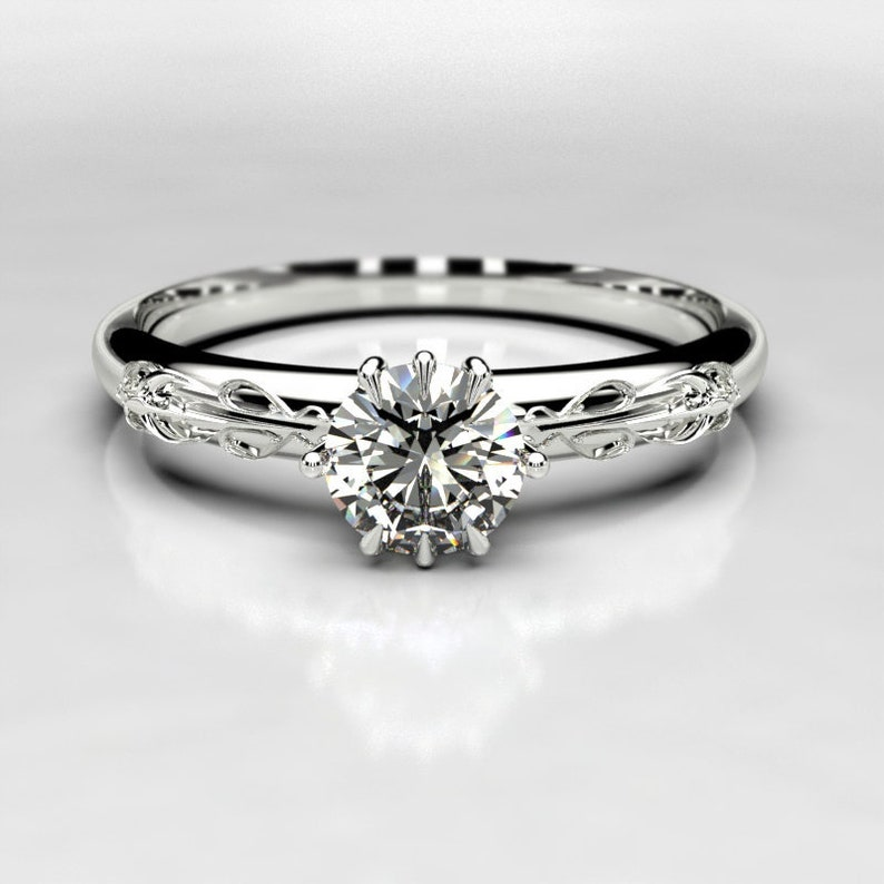 Nerdy Wedding Rings.Love S Trident Solitaire Nerdy Engagement Ring With Etsy