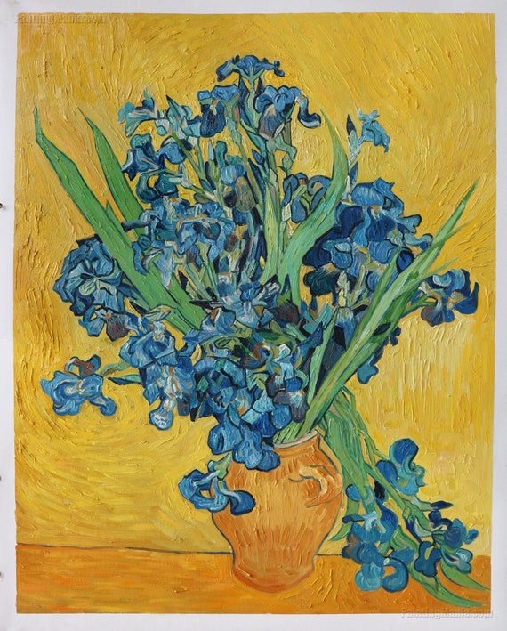 Mazzo Di Fiori Van Gogh.Iris Amsterdam Vincent Van Gogh Dipinto A Mano Etsy