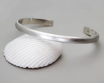 Sterling Silver Cuff Bracelet, Engraved Bracelet, Silver Men Cuff, Thin Silver Cuff, Open Bangle Men, Womend Cuff Bracelet, Secret Message
