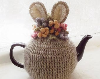 Bunny Teapot Cozy, Crochet Tea Cozy, Easter Tea Cozy, Spring Tea Cozy, Tea Pot Cozy, Teapot Cozy, Tea Pot Hat