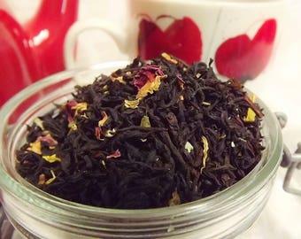 Raspberry Truffle Black Tea, Loose Leaf Tea, Black Tea, Raspberry Tea, Chocolate Tea