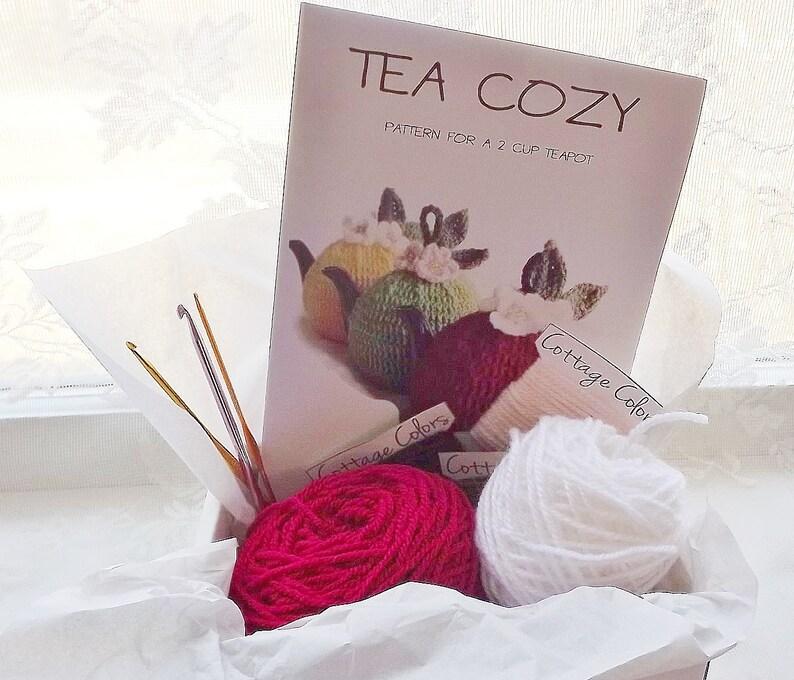 Machen Sie Diy Häkeln Tee Gemütlich Kit All Inclusive Es Sich Etsy
