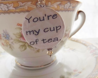 My Cup Of Tea, Teacup Charm, Tea Strainer, Tea Ball