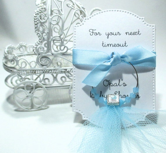 Baby Shower Favors For Your Next Timeout Wine Glass Charm Etsy