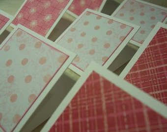 Mini Note Cards...9 Piece Set of Very Adorable Sweetheart Mini Note Cards