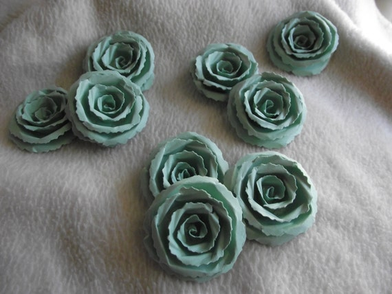 Scrapbook Paper Flowers9 Piece Set Very Sweet And Dainty Etsy