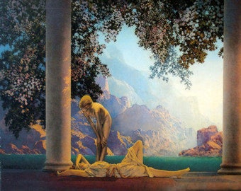 Maxfield Parrish Daybreak Painting Print on Canvas Ready to Hang Museum Quality