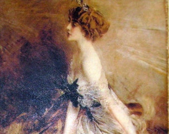 Art Painting Print Boldini Fashion Ready to Hang on Canvas Museum Quality