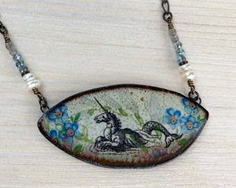 Handmade Ceramic Necklace, Ceramic jewelry, one of a kind, unique gift