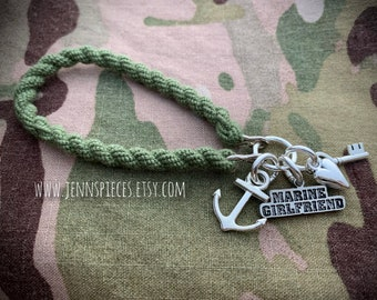 Military Girlfriend Boot Band Bracelet Marines Army Navy USAF National Guard