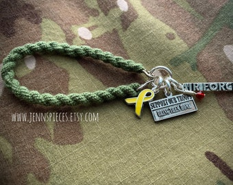 Support Our Troops Boot Band bracelet - Red Friday Army Marines Navy National Guard Deployment