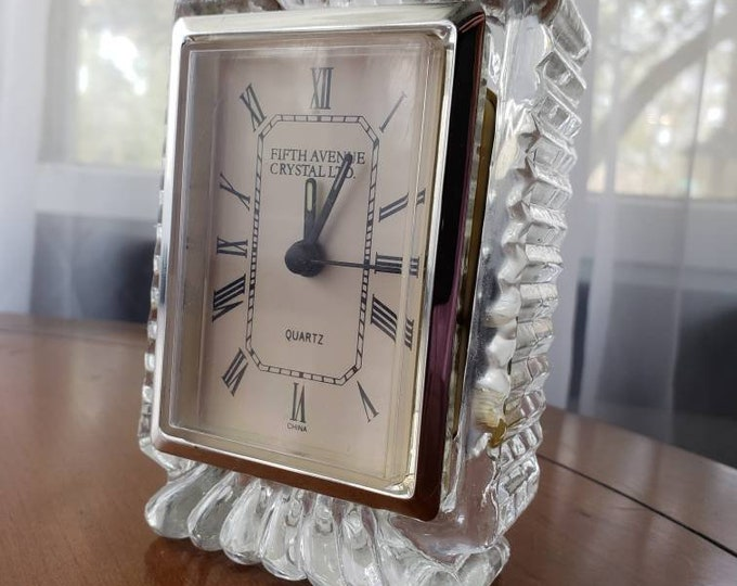Fifth Avenue Crystal Desk Clock