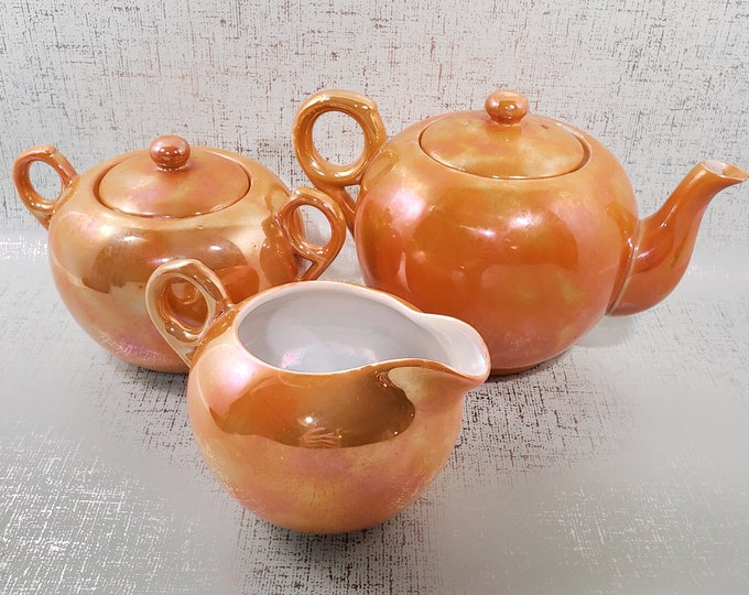Vintage Lusterware Tea Set, Made in Japan