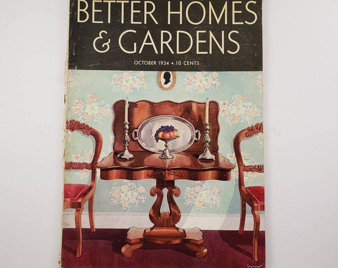 Better Homes and Gardens magazine, 1934, set of 2