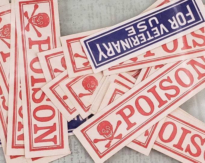 Antique Bottle Labels, Poison Label