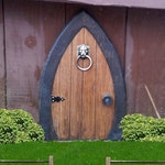 Fairy Doors, Gnome doors, Faerie Doors, Elf Doors, 12 inch, lion knocker.