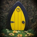 Gnome doors, Fairy Doors, Faerie Doors, Elf Doors,  9 inch - colored.