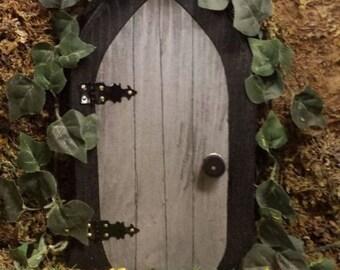 A Gnome door / Fairy door 9.5 inch.
