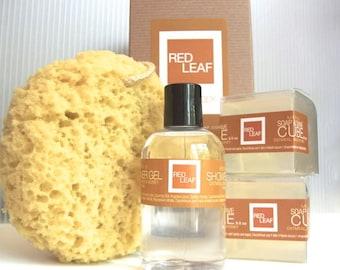 Mens Gift Set Shaving Soaps Body Wash Bath Sponge Made In Seattle