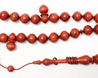 Prayer Beads Rosary Tesbih Pinkivory Wood - EXTREMELY RARE - Highly Collectible