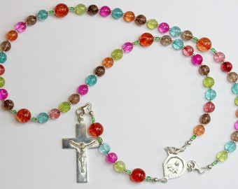 Wearable Catholic Rosary Tourmaline & Sterling Silver - 4 different uses - SPECIAL
