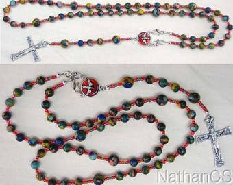 Wearable Catholic Rosary Necklace Rainbow Calcilica & Sterling Silver -  New Concept
