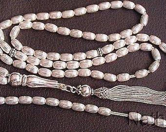 Islamic Prayer Beads ALL sterling Silver -Impressive 99 Beads