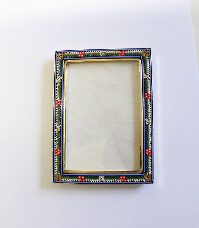 Vintage Picture Frame Italian Millefiori Mosaic