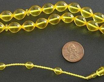 Prayer Beads Tesbih Golden Turkish Amber Catalin - SUFI CARVING - COLLECTOR'S