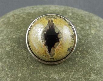 """Lampwork art glass jewellery popper """"Dragon's Eye"""", FHFteam Y3, GBUK, SRA"""