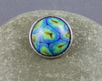 Rainbow jewellery popper, rainbow popper, art glass popper, jewellery snap, jewellery chunk, jewellery popper, SRA, GBUK