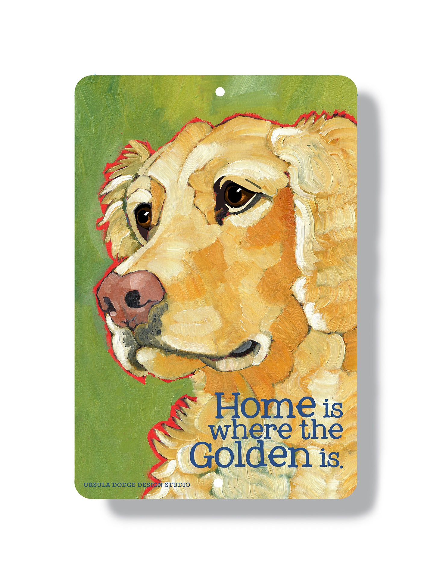 Golden retriever metal sign golden wall art golden home | Etsy