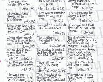 Advent Banner Scripture Cards