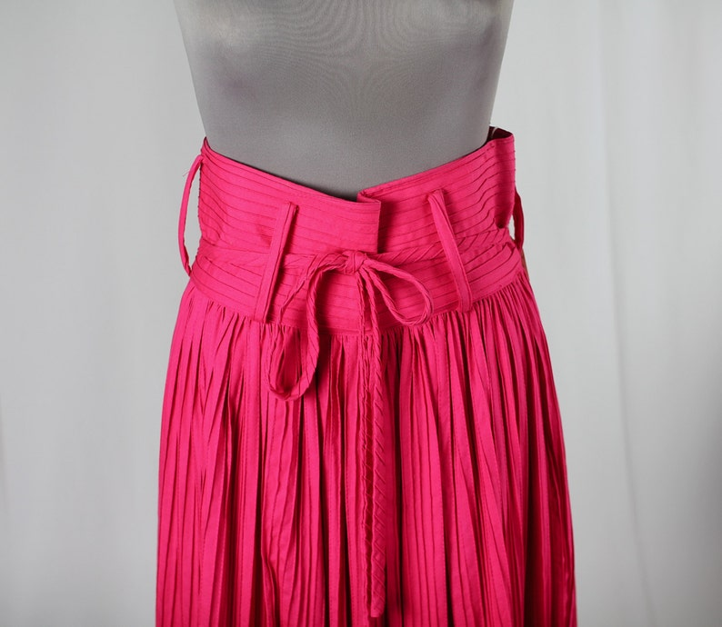 7fbba4806a87 70s HOT PINK High Waisted Maxi-SKIRT | Etsy