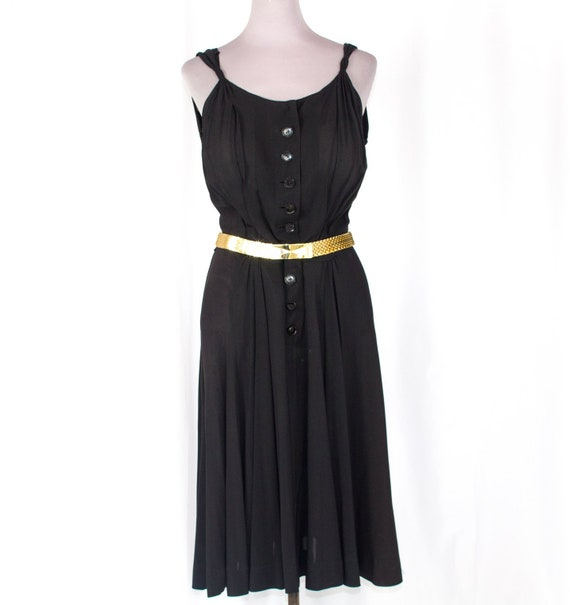 Fred A Block Original Black 40s Dress